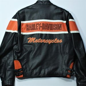 VTG Harley Davidson Victory Lane Leather Jacket